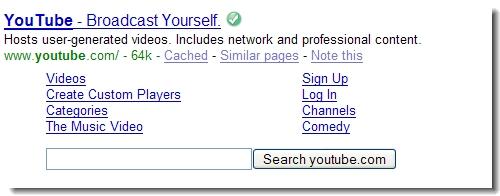YouTube zoekresultaat in Google