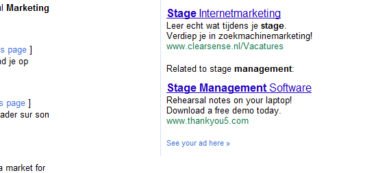 related ads bij Google Adwords