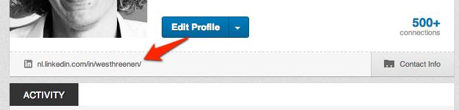 Publiek profiel tonen in LinkedIn