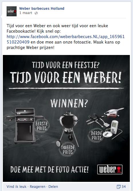 Facebook wedstrijd