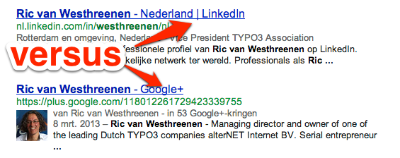 Google+ versus LinkedIn