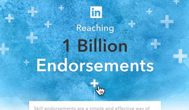 Link naar: LinkedIn Infographic 1 miljard LinkedIn Endorsements