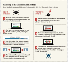 Facebook aanval Infographic