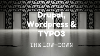 Banner Drupal Wordpress en TYPO3: the Low-Down