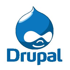 logos voor vergelijking drupal, wordpress en TYPO3