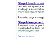 Related ads bij Google Adwords op SERP's
